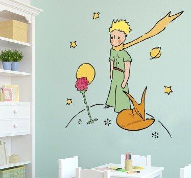 sticker-petit-prince-et-sa-rose-8528