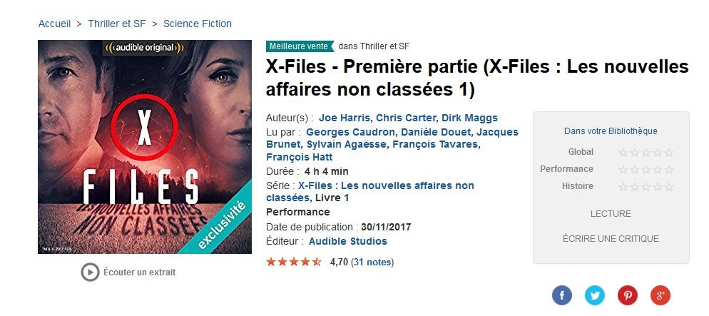 X Files L Inter Saison En Livres Audio Sur Audible La